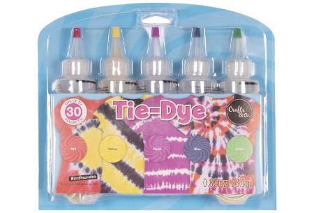 Tie-Dye set   Textielverf voor de mooiste creaties op T-shirts, sokken en meer! #1 Regenboog