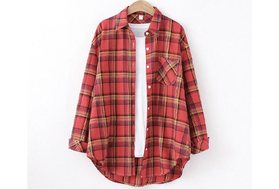 Houthakkers blouse Maat L - #B