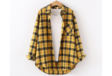 Houthakkersblouse | Trendy dames blouse in 10 kleuren #D