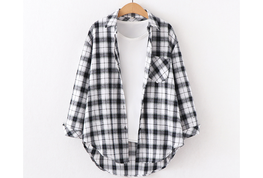 Houthakkers blouse Maat L - #G