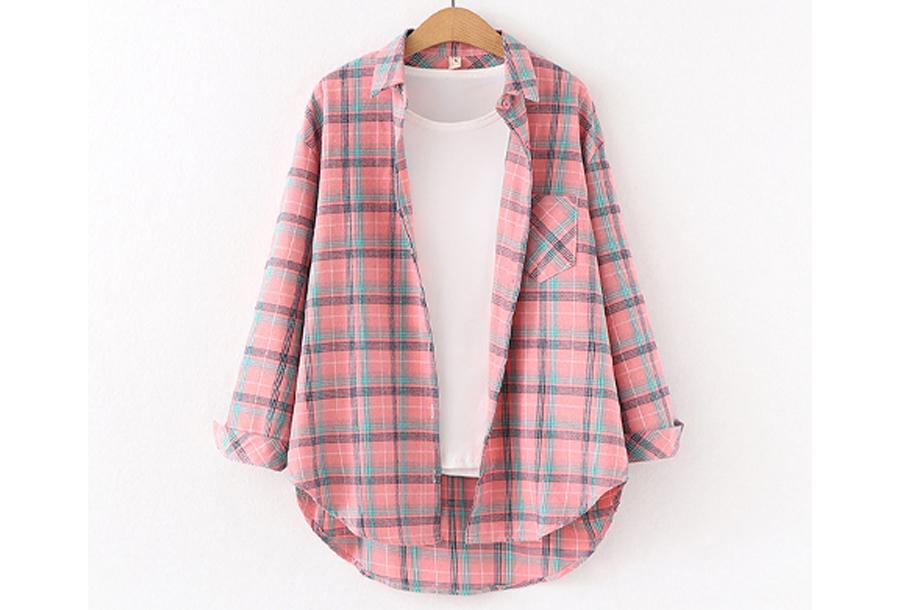 Houthakkers blouse Maat L - #J