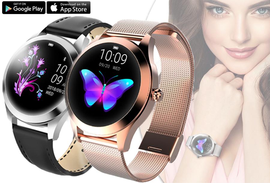 Korting Luxe smartwatch voor vrouwen in de aanbieding