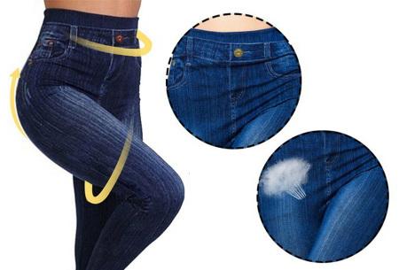 High waist jeans legging voor dames   Ultracomfortabele jegging met hoge taille