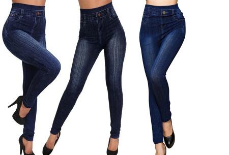 High waist jeans legging voor dames   Ultracomfortabele jegging met hoge taille Donkerblauw