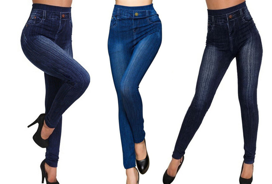 High waist jeans legging in de sale