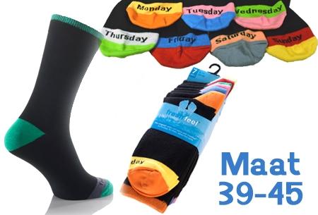 Wonderbaarlijk 7 paar sokken met weekdagen t.w.v. €24,95 nu maar €9,95! Maat 39-45 ZH-69