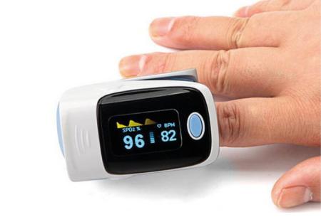 Saturatiemeter   Meet eenvoudig en snel je zuurstofgehalte en hartslagfrequentie