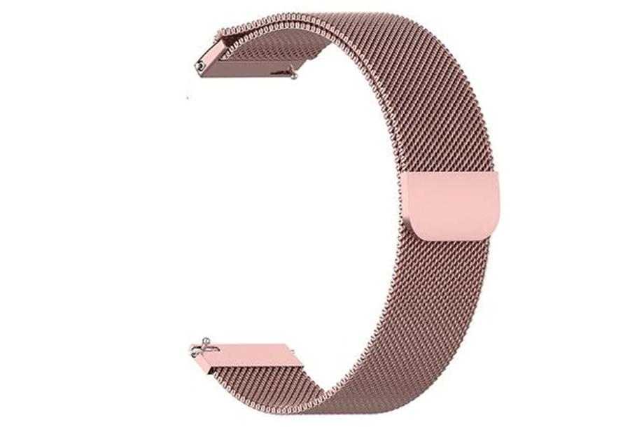 Smartwatch met vierkant scherm Smartwatch - Siliconen bandje - wit + extra mesh bandje - roze