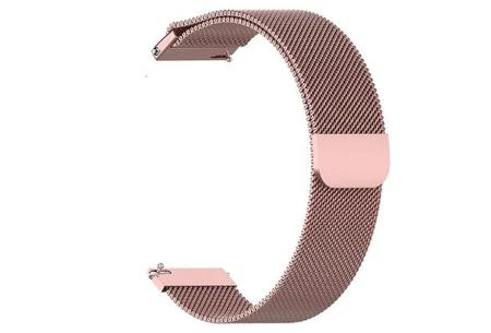 Unisex smartwatch | Stijlvol horloge met siliconen bandje Extra bandje - mesh roze