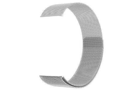 Unisex smartwatch | Stijlvol horloge met siliconen bandje Extra bandje - mesh zilverkleurig