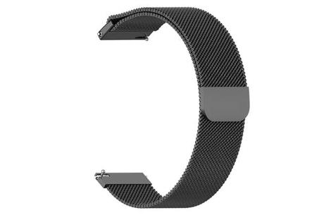 Unisex smartwatch | Stijlvol horloge met siliconen bandje Extra bandje - mesh zwart