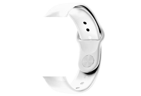 Unisex smartwatch | Stijlvol horloge met siliconen bandje Extra bandje - siliconen wit