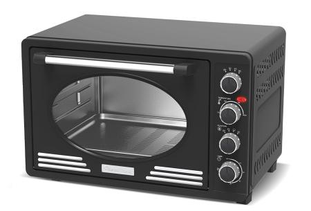 TurboTronic elektrische oven | Voor bakken, grillen en verwarmen - Met klassieke retro look!  Zwart