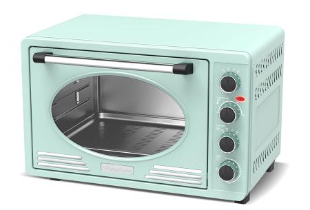 TurboTronic elektrische oven | Voor bakken, grillen en verwarmen - Met klassieke retro look!  Mintgroen