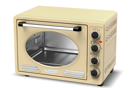 TurboTronic elektrische oven | Voor bakken, grillen en verwarmen - Met klassieke retro look!  Crème