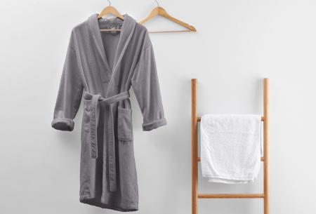 Badjas van badstof | Ochtendjas van 100% katoen voor dames en heren Grijs