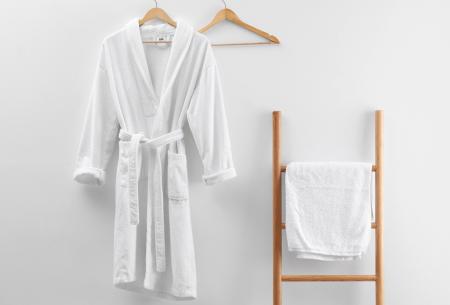 Badjas van badstof | Ochtendjas van 100% katoen voor dames en heren Wit