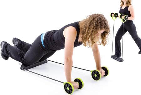 Multifunctionele ab-roller | Gemakkelijk thuis oefeningen doen