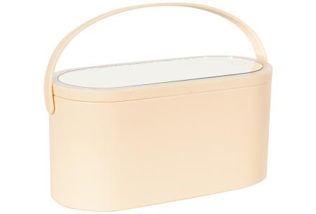 Make-up doos met led-spiegel van Peach Beauty | Handige beauty case voor thuis of onderweg