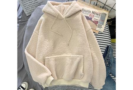 Comfy teddy sweater | Warme hoodie met fleece binnenkant - In 5 kleuren! Beige