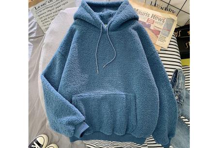 Comfy teddy sweater | Warme hoodie met fleece binnenkant - In 5 kleuren! Blauw