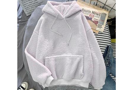 Comfy teddy sweater | Warme hoodie met fleece binnenkant - In 5 kleuren! Wit