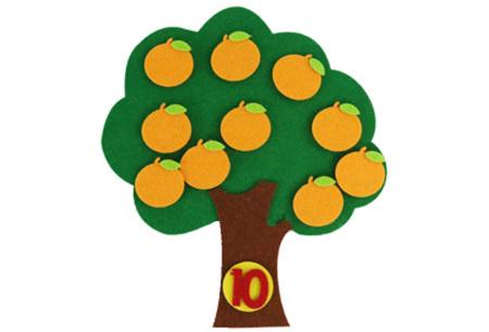 Vilten leerhulpjes | Educatief speelgoed om te leren tellen of klok te kijken  Sinaasappelboom