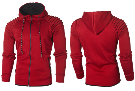 Heren trainingspak | Met ribdetails en warme fleece voering