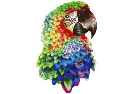 Dieren legpuzzel | Met 3D-stukjes in dierenvorm! Papegaai