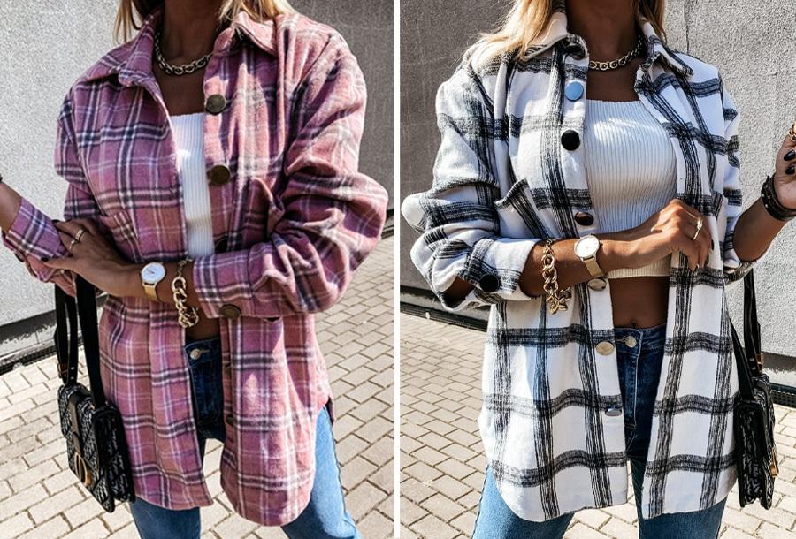 Foto Checkered blouse in de aanbieding