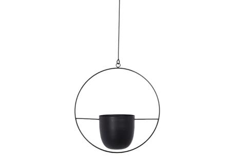 Hangende plantenbak | Stijlvolle plantenpotten in 2 modellen A - Zwart