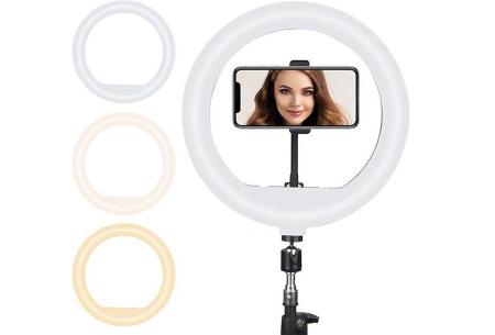 Selfie ringlight | In 2 formaten - met of zonder standaard