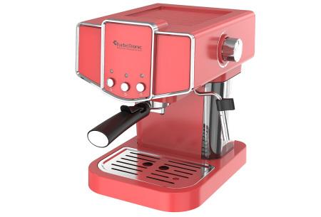 TurboTronic espressomachine | Maak thuis de lekkerste espresso of cappuccino! Rood
