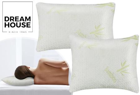 Bamboo hoofdkussens van Dreamhouse | Traagschuim kussens voor zij-, rug- én buikslapers