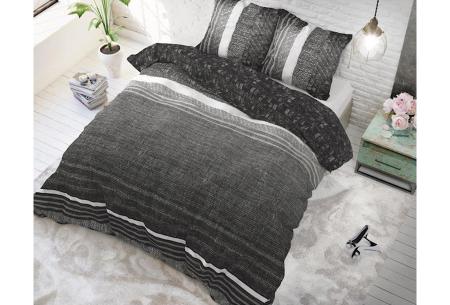 Dreamhouse katoenen dekbedovertrek   Comfortabel beddengoed met print Matrix Antraciet