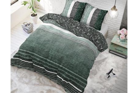 Dreamhouse katoenen dekbedovertrek   Comfortabel beddengoed met print Matrix Green