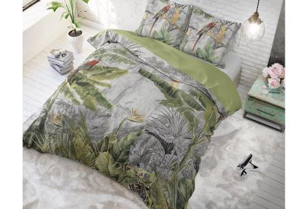 Dreamhouse katoenen dekbedovertrek   Comfortabel beddengoed met print Jungle by night