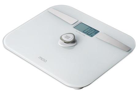Moa personenweegschaal met Bluetooth | Lichaamsanalyse weegschaal zonder batterijen