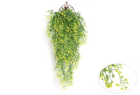 Nep hangplanten   Sfeervolle kunstplanten voor in huis - In verschillende soorten Geel 85 CM