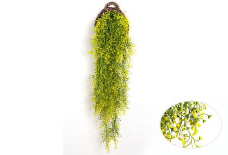 Nep hangplanten   Sfeervolle kunstplanten voor in huis - In verschillende soorten Geel 115 CM