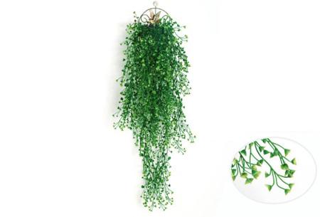 Nep hangplanten   Sfeervolle kunstplanten voor in huis - In verschillende soorten Groen 85 CM