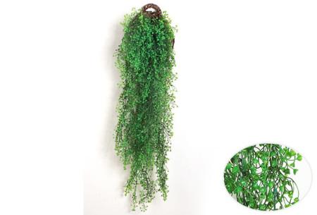 Nep hangplanten   Sfeervolle kunstplanten voor in huis - In verschillende soorten Groen 115 CM