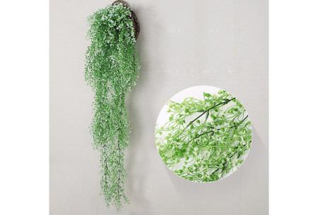Nep hangplanten   Sfeervolle kunstplanten voor in huis - In verschillende soorten Lichtgroen 115 CM
