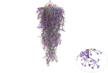 Nep hangplanten   Sfeervolle kunstplanten voor in huis - In verschillende soorten Paars 85 CM
