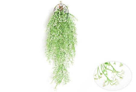 Nep hangplanten   Sfeervolle kunstplanten voor in huis - In verschillende soorten Wit 85 CM