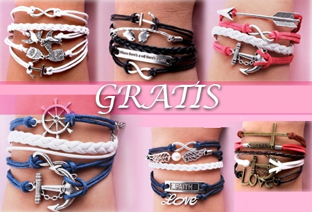 Bracelets t.w.v. €19,95 nu GRATIS