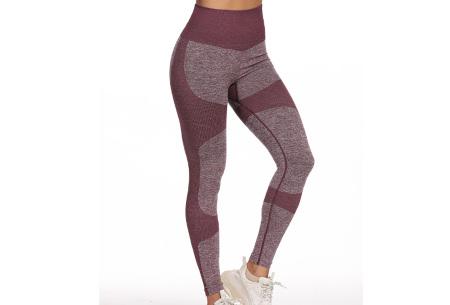 Shaping legging   Sportlegging voor dames in 11 kleuren Donkerpaars