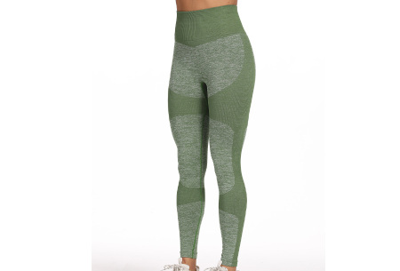 Shaping legging   Sportlegging voor dames in 11 kleuren Groen