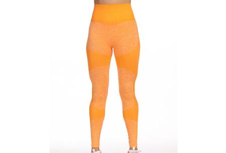 Shaping legging   Sportlegging voor dames in 11 kleuren Okergeel