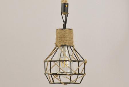 Industriële touwlamp | Hanglamp voor boven de eettafel Model B